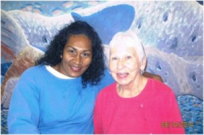 Rajeshree Roy is visited by Carolyn Miller, a close friend, at Central California Women's Facility (CCWF).