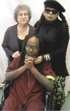 This photo, of attorney Rachel Wolkenstein as well as Wadiya Jamal and Mumia, was also taken during their visit April 9, 2015.