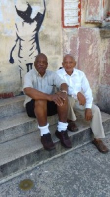Professor Willie Thompson and his friend, Ernesto Valdés Janet, director of Proyecto Orunmila, comprise a research team.