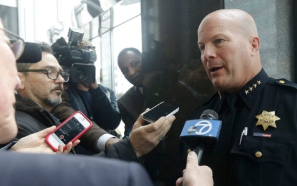 For the fifth time in recent years, SFPD, currently led by Chief Greg Suhr, formerly the captain at the Bayview police station near where Mario Woods was murdered, is calling for officers to be armed with tasers. Yet studies show that police armed with tasers use their guns more often. In 50 California police departments, sudden deaths increased 600 percent in the year after officers were armed with tasers. – Photo: Jeff Chiu, AP