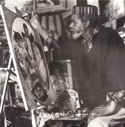 Eugene White, the artist at work