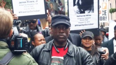 "Rise Up October, a national protest against police terror held Oct. 24-24 in New York City, culminated the final day in a mass march and rally, ""Rise Up: Which Side Are You On?"" Cephus Johnson was a featured speaker."