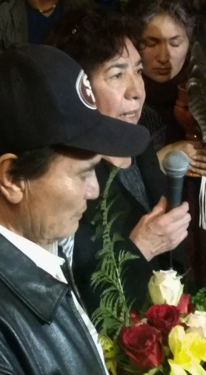 Elvira Nieto, Alex's mother, speaks to the press after the verdict was announced. – Photo: Poor News Network