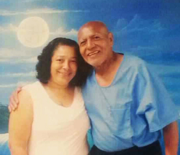 Hugo Pinell, who survived over 45 years of solitary confinement torture, was not allowed a contact visit with his daughter, Allegra, until days before his assassination. This photo was taken Aug. 2, 2015. He was murdered on Aug. 12.