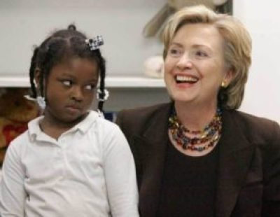 While Hillary Clinton tries to recast herself as a champion of Black empowerment, even a child can sense the hypocrisy behind the smile.