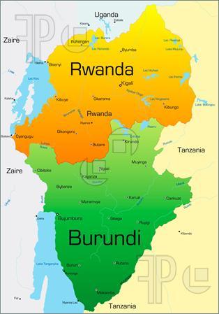 Rwanda-Burundi map-2