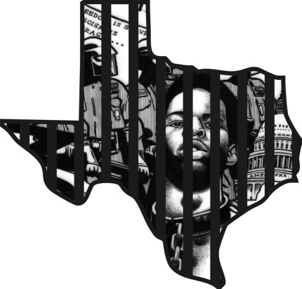 """Texas"" – Art: Kevin ""Rashid"" Johnson, 1859887, Clements Unit, 9601 Spur 591, Amarillo TX 79107"