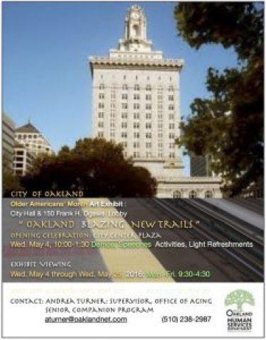 City of Oakland Older AmericansGÇÖ Month 0516 poster