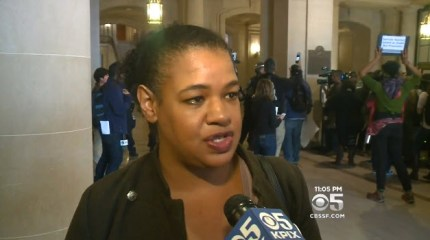 """""""We're letting Mayor Ed Lee know that until he fires Chief Suhr, there's no business as usual in San Francisco. We're going to shut it down!"""" Frisco 5 spokesperson Yayne Abeba told CBS News. """"I want the good police officers to know that if they step up, the community has their backs,"""" she added."""