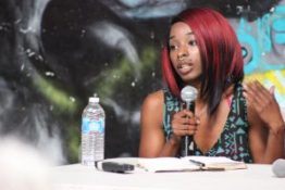 Van Dell of Qilombo speaks at the roundtable discussion. – Photo: Omar Ali
