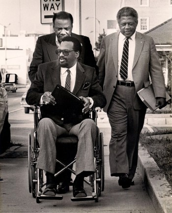 Eames and his team head to court in 1980.