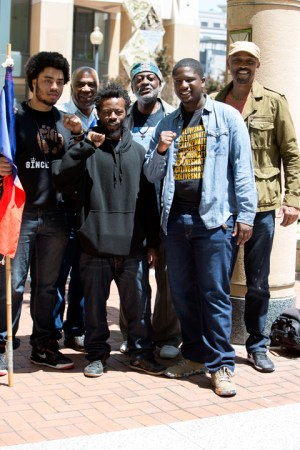 Representing for Haiti: Shanga Labossiere, Pierre Labossiere, Jabari Shaw, Jahahara Alkebulan-Maat, Devonte Jackson and Akubundu-Amazu Lott – Photo: Malaika H Kambon