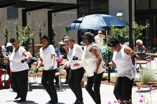 Lively senior steppers entertained the crowd. – Photo: PhotoArtist Gene Hazzard