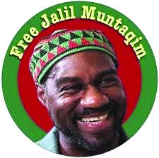 Jalil Muntaqim founded the Jericho Movement, which supports political prisoners, fighting for their recognition and amnesty, creating graphics similar to this for each one.