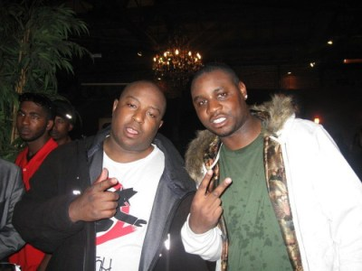 "The Jacka and DLabrie at the release party for ""Tear Gas"""