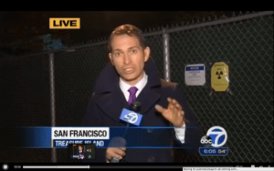 Sergio Quintana reports on Treasure Island radiation 111313 for ABC7