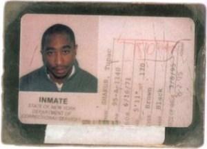 Tupac Shakur's prison ID card