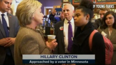 Hillary is dismissive when approached by a young Black woman in March on the campaign trail. – Video: The Young Turks