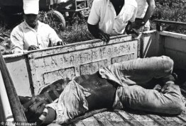 Another expendable prison worker – or slave – Danny Lyon dies of heat exhaustion at the Ellis Unit in Texas in 1942.