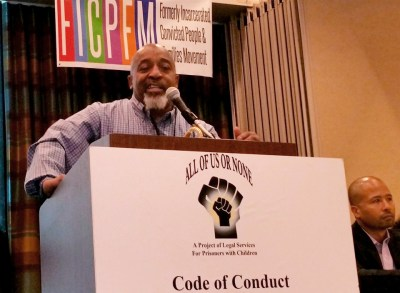 Pastor Kenneth Glasgow speaks during the inaugural national conference of the Formerly Incarcerated and Convicted People and Families Movement (FICPFM) on Sept. 9, 2016, in Oakland. – Photo: Kenneth Glasgow