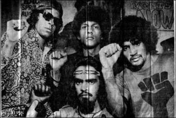 These young men are members of an Aboriginal Australian Black Panther organization founded in Brisbane, Australia, in 1975, to deal with many of the same problems the founders of the Black Panther Party for Self-Defense faced in Oakland and throughout the U.S.