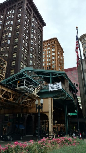 Here, in Chicago, and in many other cities, banner drops did a great job of getting the word out.