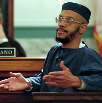 Siddique Abdullah Hasan, targeted as a leader of the Lucasville Rebellion, is shown at trial on Feb. 14, 1996. – Photo: Al Behrman, AP