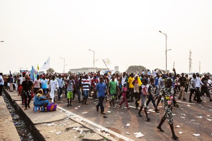 "Speaking to tens of thousands at the rally in Kinshasa, opposition party chief Etienne Tshisekedi warned Kabila not to try to stay in power, saying it will be ""high treason"" if the electoral process is not launched on time in September. – Photo: Eduardo Soteras, AFP"