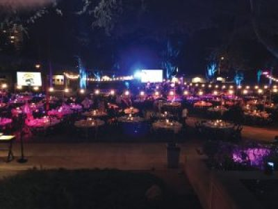 The Gala was held outdoors in the Oakland Museum of California Garden, the elegance a tribute to revolutionaries whose lives have been far from easy. – Photo: Malaika Kambon