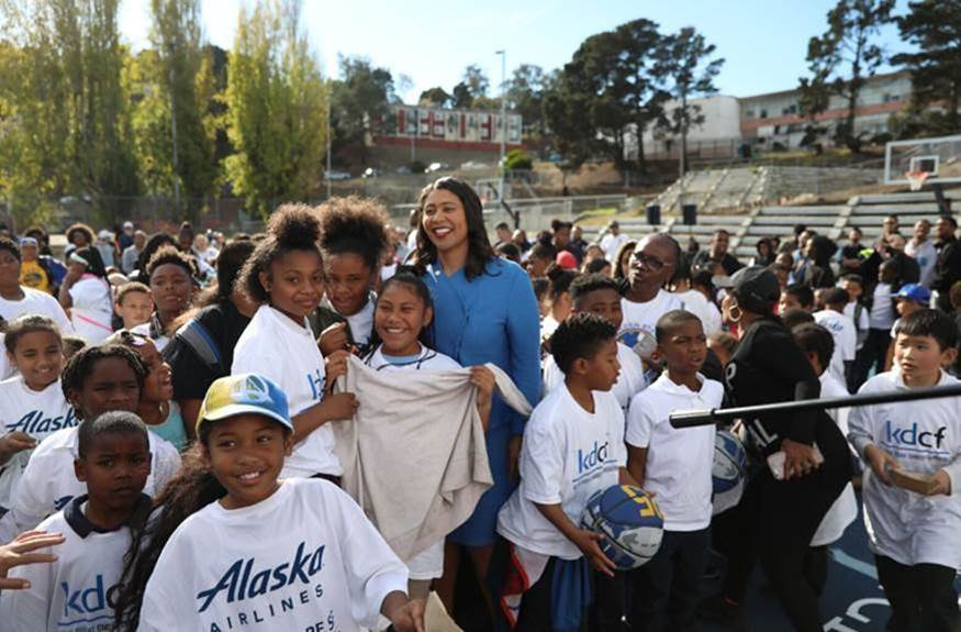 2f977547e22 Mayor Breed and Kevin Durant Charity Foundation unveil newly renovated  Hunters Point Youth Park