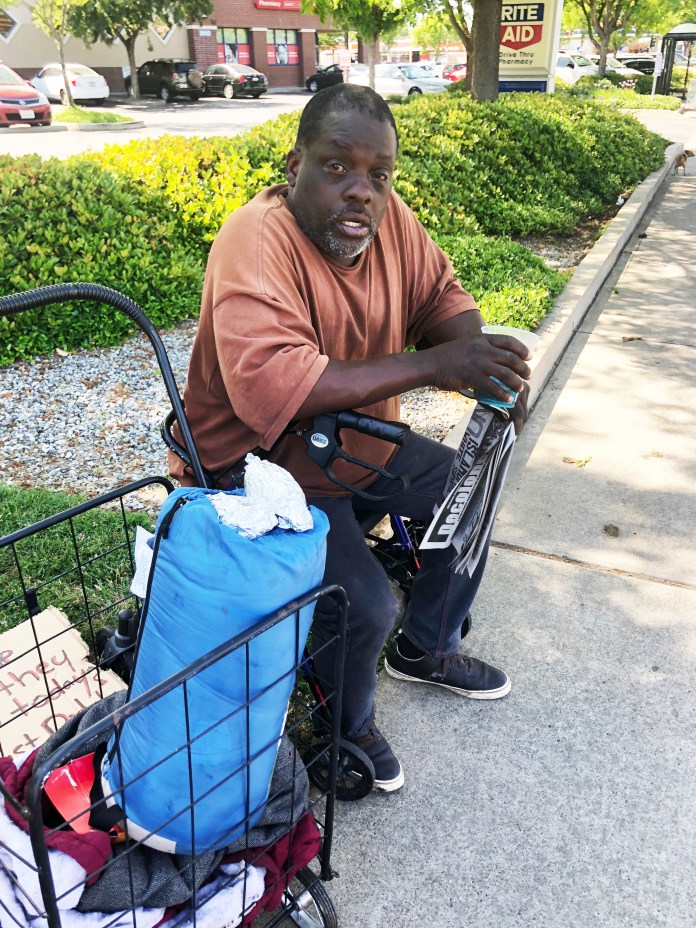 Houseless-poverty-skola-and-RoofLESS-radio-reporter-from-Sacramento-after-being-removed-from-vacant-land-promised-for-housing-8-years-ago-by-POOR, Presence, Prayer and Procession of the Housed for the Unhoused Friday, Local News & Views
