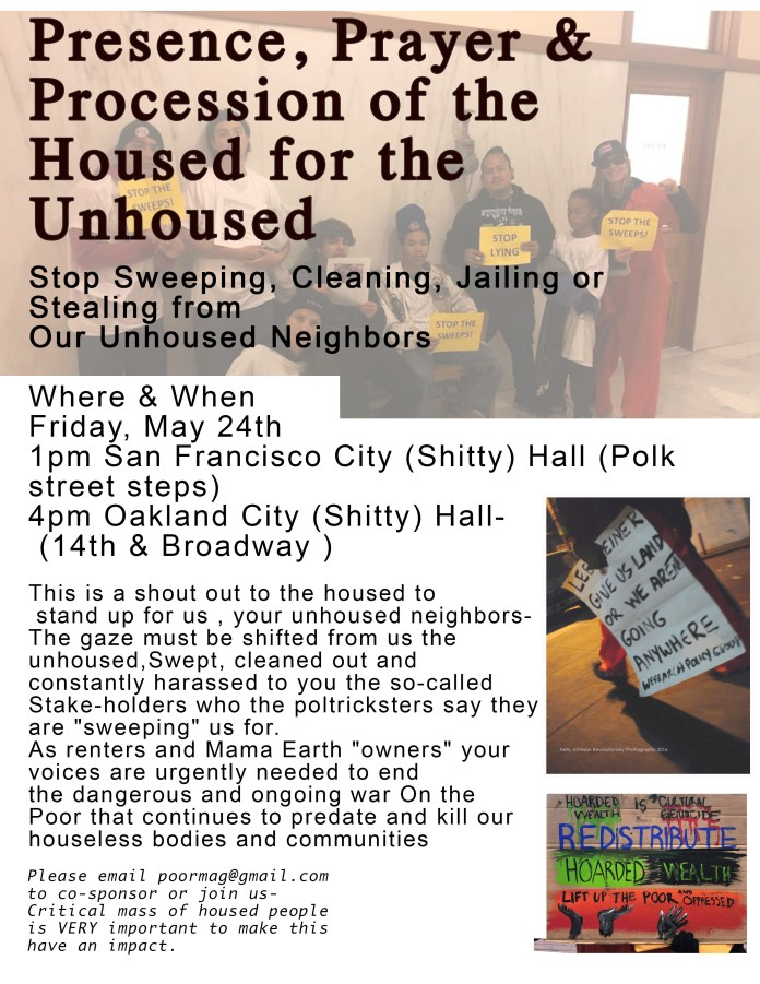 Presence-Prayer-Procession-of-the-Housed-for-the-Unhoused-052419-flier-by-POOR, Presence, Prayer and Procession of the Housed for the Unhoused Friday, Local News & Views