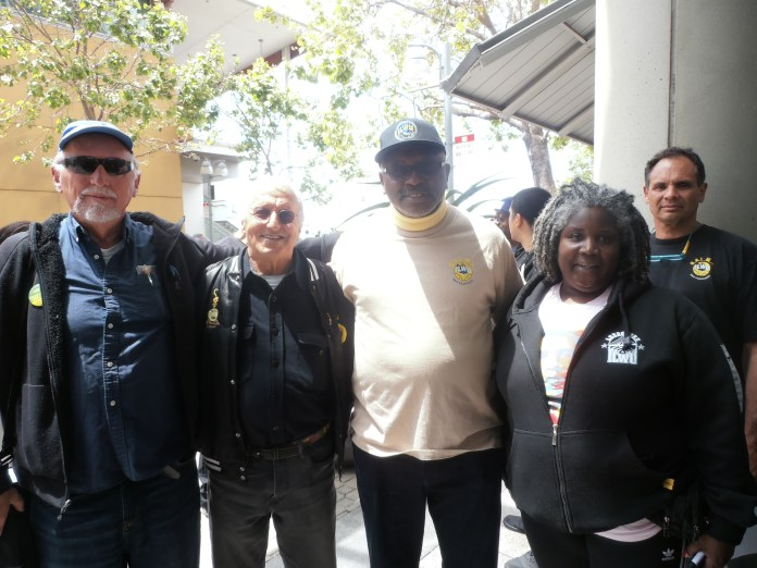 ILWU-Local-10-leaders-inc.-Clarence-Thomas-Jack-Heyman-call-for-As-to-stay-at-Coliseum-0519-by-Jahahara, Bring our courageous elders home, now!, Culture Currents