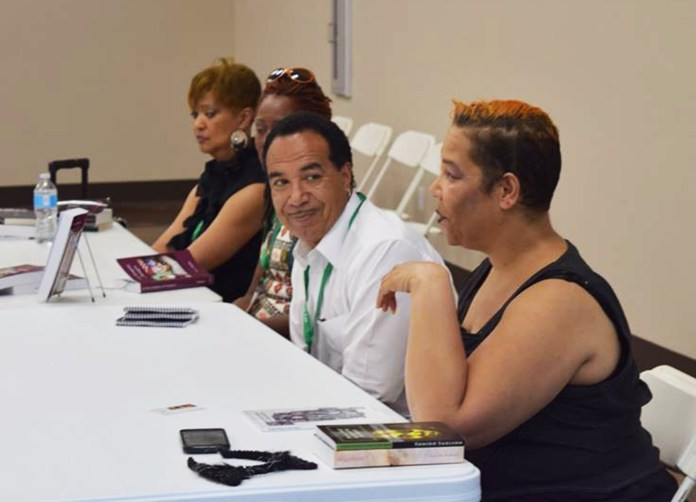 2016-Sacramento-Black-Book-Fair-doris-mangrum-KE-Mullins-Sumiko-Saulson-Jay-King-, #HugosSoWhite: The literary convention diversity scandals, Culture Currents