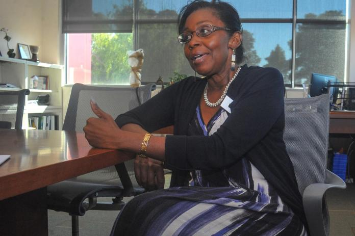 Dr.-Katrina-VanderWoude-in-her-new-Contra-Costa-College-office-0818-by-Denis-Perez-The-Advocate, Chancellor's orchestrated public lynching at Contra Costa College, Local News & Views