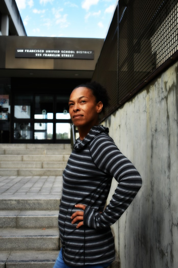 Sabrina-Hall-challenges-SFUSD-by-Kristen-Skalin, Mothers challenge SFUSD: 'They treat my daughter like a criminal because she's Black', Local News & Views