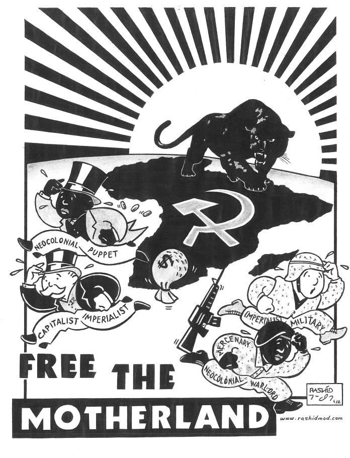Free-the-Motherland-art-by-Rashid-2012, On Pan Afrikanism: Interview with Comrade Rashid by JR Valrey of Block Report Radio, Behind Enemy Lines