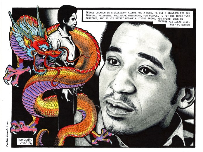 George-and-the-Dragon-art-by-Rashid-2016, On Pan Afrikanism: Interview with Comrade Rashid by JR Valrey of Block Report Radio, Behind Enemy Lines