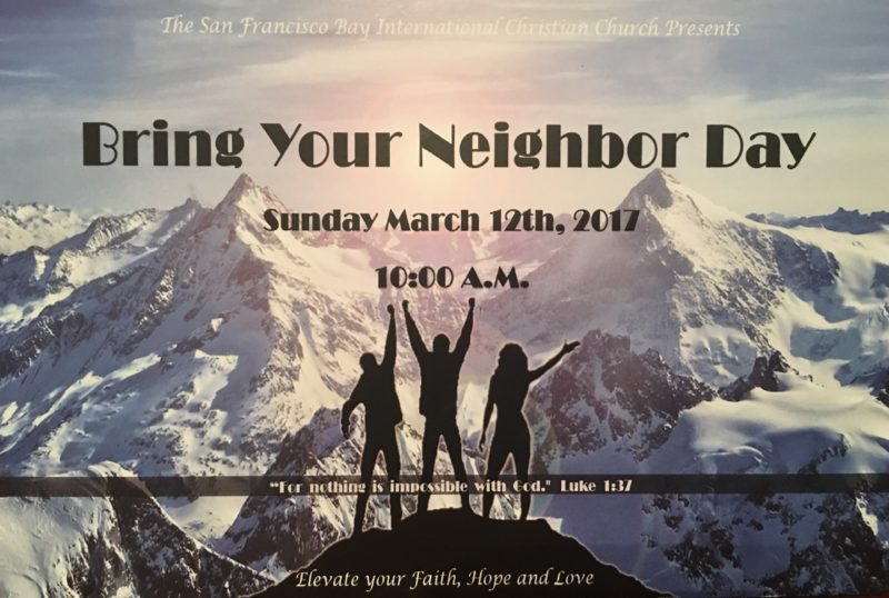 Bring Your Neighbor Day Is This Sunday!