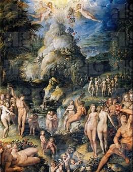 The Golden Age, 1575, by Jacopo Zucchi (ca 1542-ca 1596). Florence, Galleria Degli Uffizi (Uffizi Gallery) Gabinetto Disegni E Stampe Degli Uffizi (D...