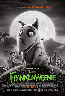 Frankenweenie horror film