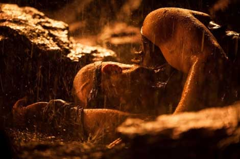 The Chronicles Of Riddick Dead Man Stalking... stick-in-the-mud.