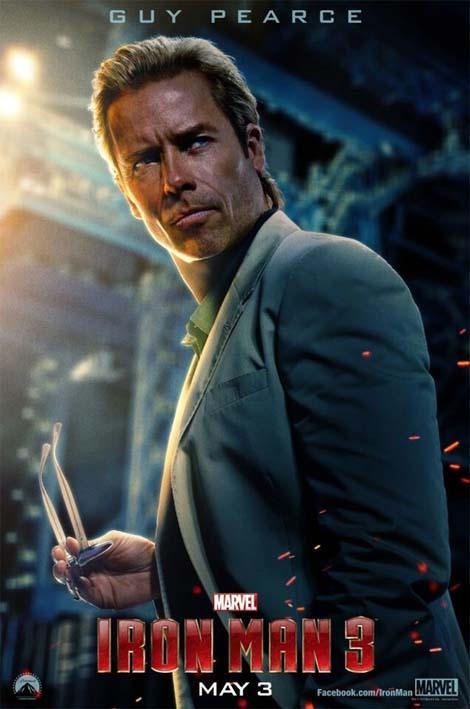 Iron Man 3 movie... Guy Pearce, evil, ya'think?