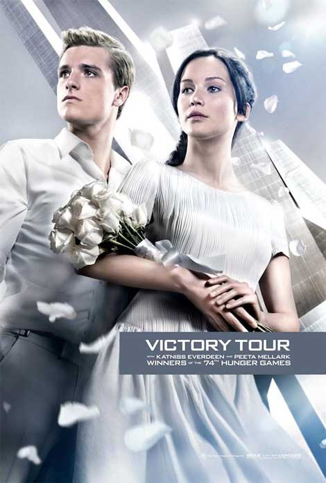 Hunger Games: Catching Fire... Katniss and Peeta, heroes of the people.