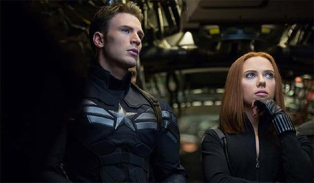 """""""We're fellow AVENGERS Captain America and Black Widow. So who were you expecting...maybe John Steed and Emma Peel?"""""""