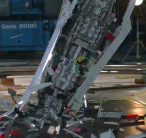 Star Destroyer . . . destroyed in slow-mo.