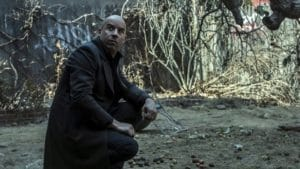 """""""Witch"""" way to go? Who knows but only one witch hunter can answer that in Vin Diesel's Kaulder from the flaccid fantasy THE LAST WITCH HUNTER"""