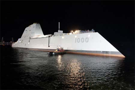 Futuristic navy ship launches, commanded by ... James Kirk.