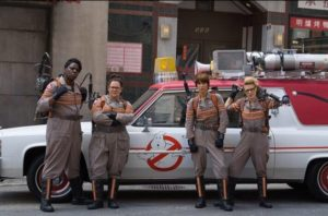 """""""Hey you misogynistic morons...so you think we belong in the kitchen, huh? Guess what...our domestic goal is to clean house...as GHOSTBUSTERS!"""""""