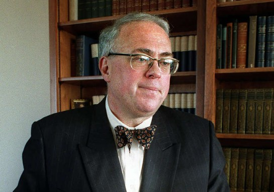State Librarian Kevin Starr during a Feb. 1996 Times Q & A at his San Francisco home. (Contra Costa Times/ Karl Mondon)
